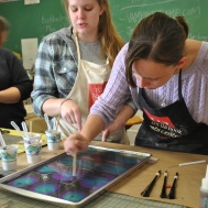 Students Marbling